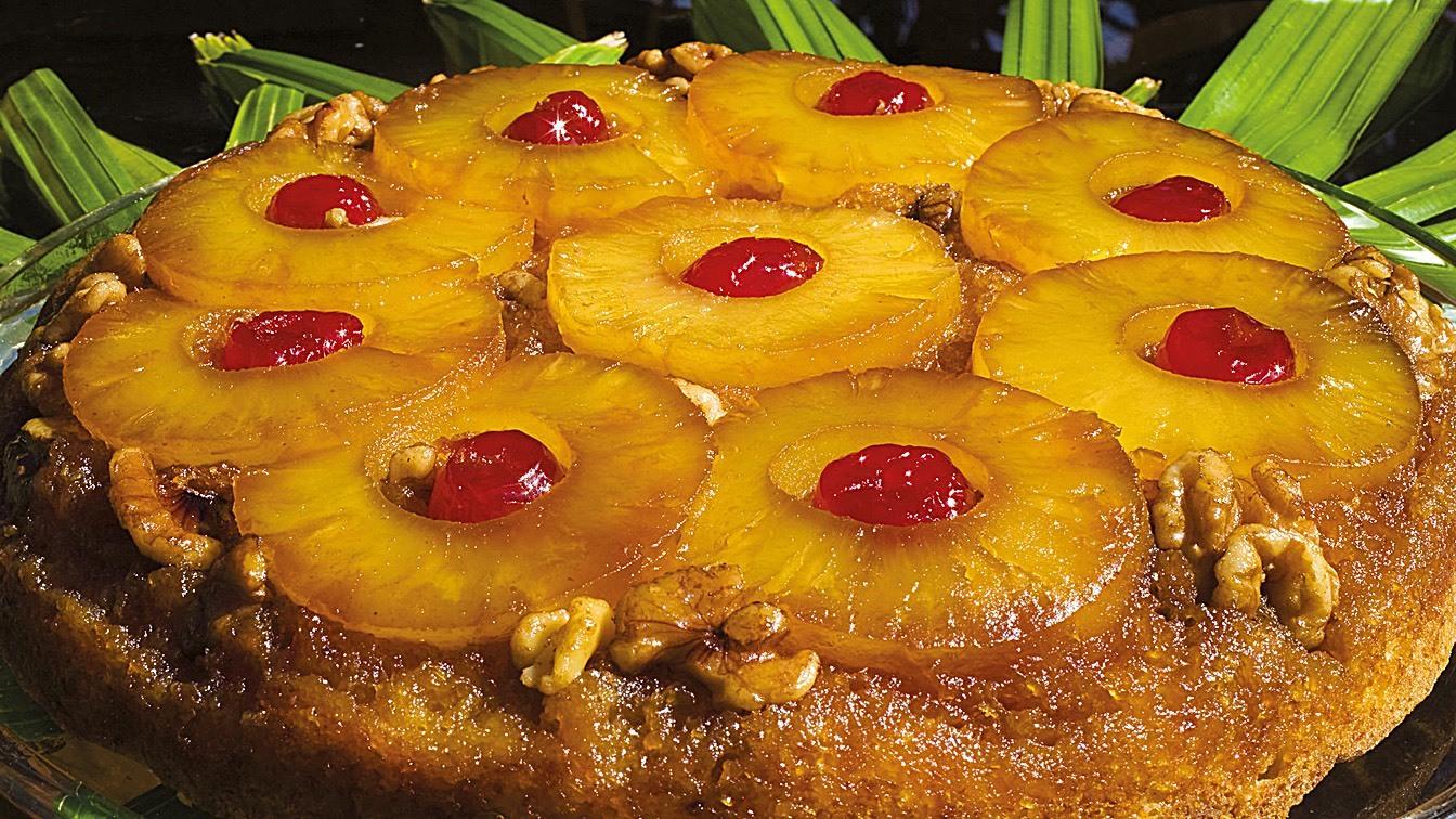 Пирог с ананасом свежим рецепт с фото