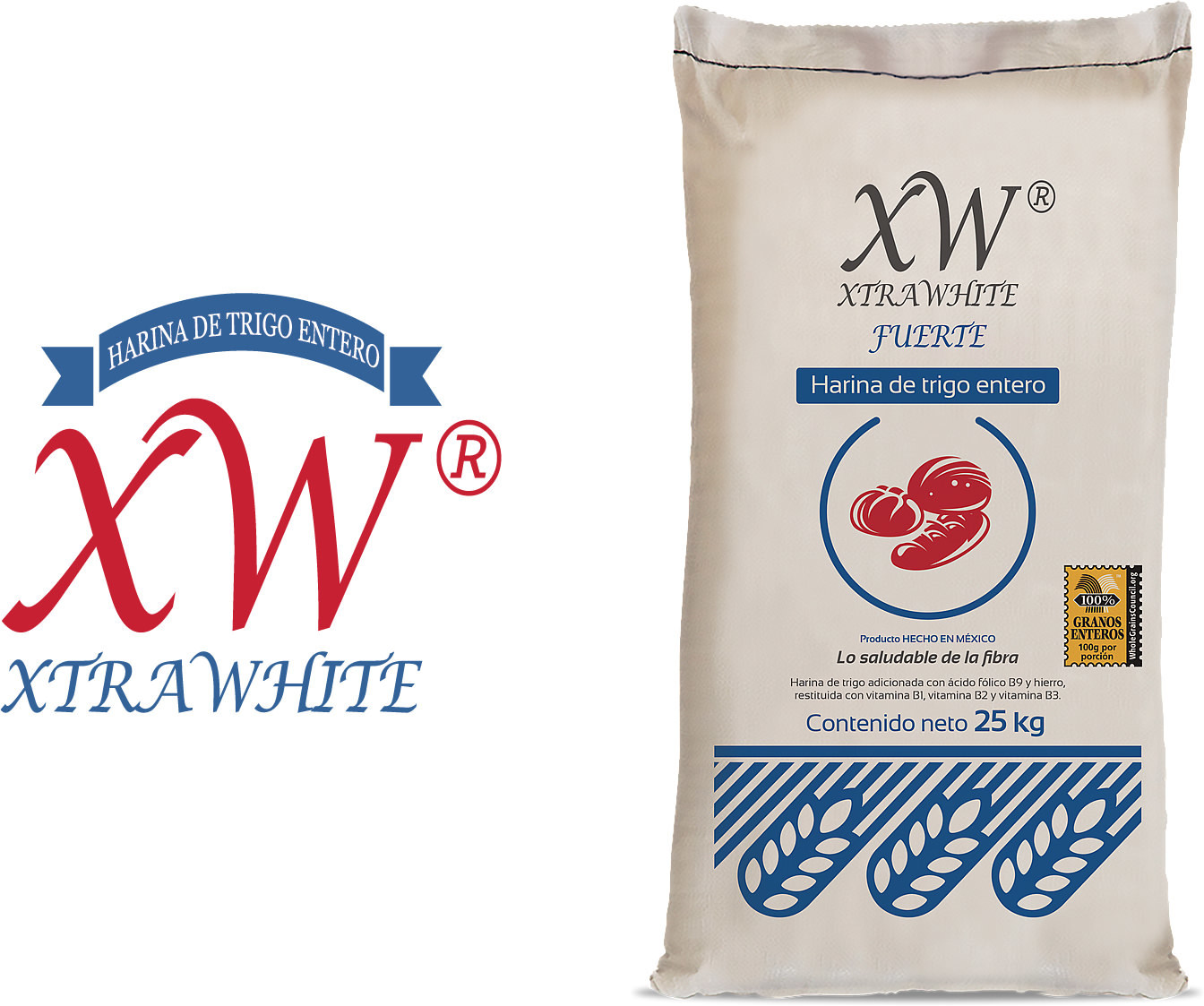 XtraWhite is a whole wheat multi-purpose flour.