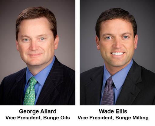 George Allard et Wade Ellis nommés à de nouveaux postes dans l'équipe de direction de Bunge depuis le 1er avril 2013