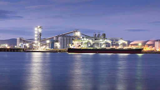 C'est le premier silo d'exportation construit aux États-Unis au cours des 30 dernières années.