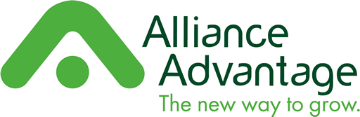 Logo Alliance Advantage — The new way to grow (La nouvelle façon de croître).
