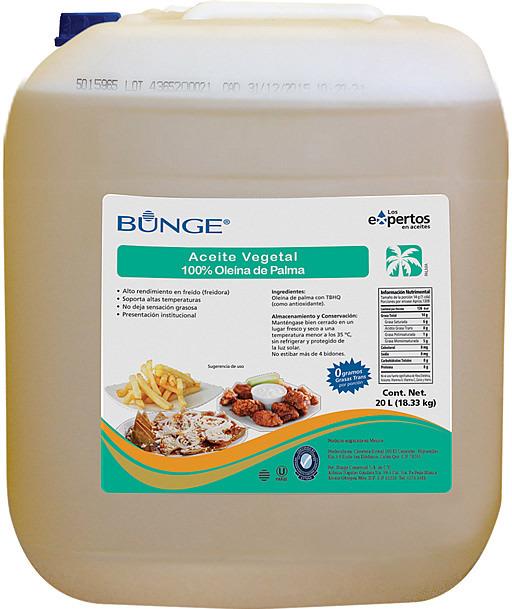 Bidón de Aceite Vegetal 100% de Oleína de Palma.