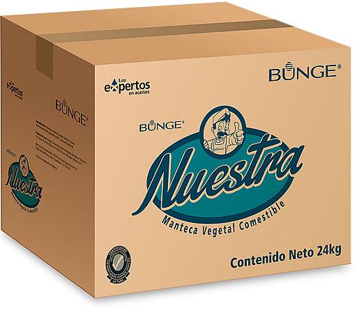 Caja de La Nuestra: Manteca Panadera Multipropósito.